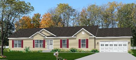 Pennwest homes pennflex ii series modular home floor plans for Custom ranch home builders maryland