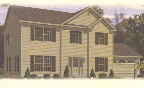 Artist's Rendering of The Harrington Two Story Modular Home (Pennwest Homes Model: HS160-A)