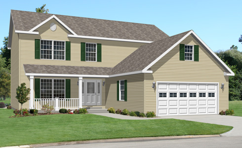 Artist's Rendering of The Jefferson Two Story Modular Home (Pennwest Homes Model: HS109-A)